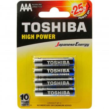 TOSHIBA ΜΠΑΤΑΡΙΕΣ HIGH POWER AAA 4 ΤΕΜ.