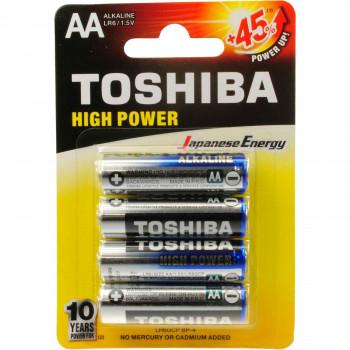 TOSHIBA ΜΠΑΤΑΡΙΕΣ HIGH POWER AA 4 ΤΕΜ.