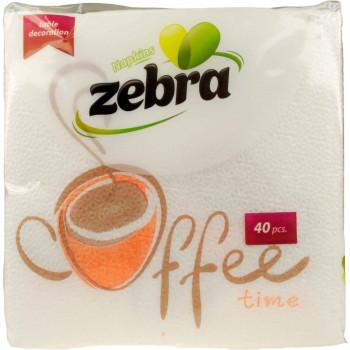 ZEBRA ΧΑΡΤΟΠΕΤΣΕΤΕΣ COFFE TIME 28X28EK. 40 ΤΕΜ.