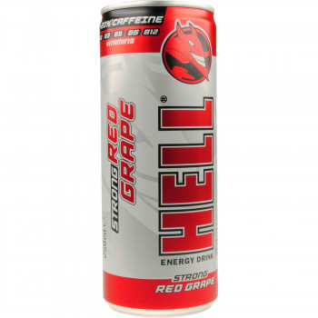 HELL ENERGY DRINK RED GRAPE 250ML