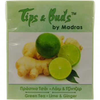 MADRAS TIPS & BUDS ΠPAΣINO TΣAI 10 ΤΕΜ.