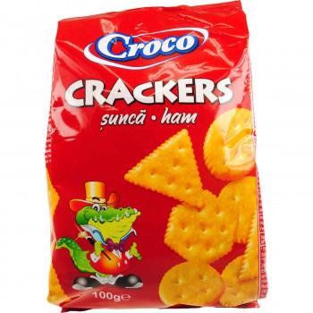CROCO CRACKERS ΑΛΜΥΡΑ ΜΕ ΖΑΜΠΟΝ 100 ΓΡ.