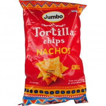 JUMBO TORTILLA CHIPS CHILLY 200 ΓΡ.