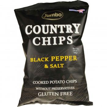 JUMBO COUNTRY CHIPS PEPPER & SALT 150 ΓΡ.