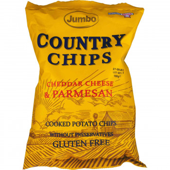 JUMBO COUNTRY CHIPS CHEDDAR CHEESE & PARMESAN 150 ΓΡ.