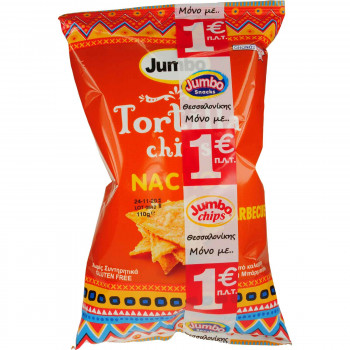 JUMBO TORTILLA CHIPS BARBECUE 110Ρ.