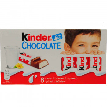 KINDER CHOCOLATE ΜΠΑΡΕΣ 8 ΤΕΜ.