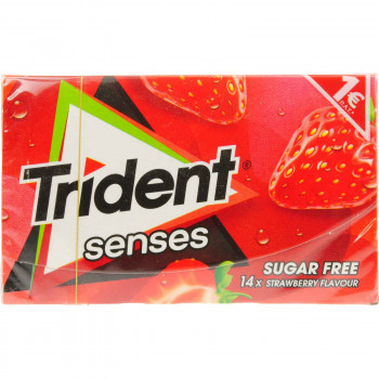 TRIDENT SENSES STRAWBERRY 27 ΓΡ.