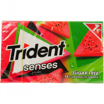 TRIDENT SENSES WATERMELON 27 ΓΡ. 1.00€