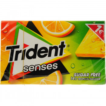 TRIDENT SENSES TROPICAL FLAVOR 27 ΓΡ. -1.00€