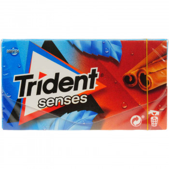 TRIDENT SENSES CINNAMON MINT 27 ΓΡ. 1.00€