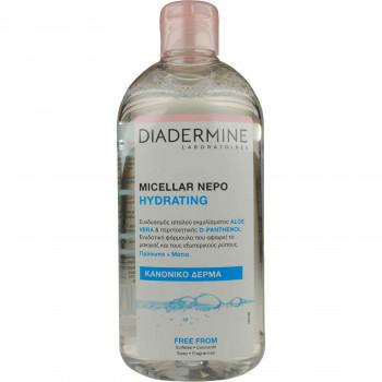 DIADERMINE MICELLAR ΝΕΡΟ HYDRATING ΓΙΑ ΚΑΝΟΝΙΚΟ ΔΕΡΜΑ 400 ML.