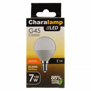 CHARALAMP LED E14 ΣΦΑΙΡΙΚΗ WARM 7W/50W